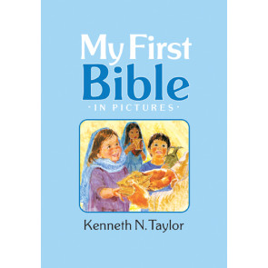 My First Bible in Pictures, Baby Blue - Hardcover