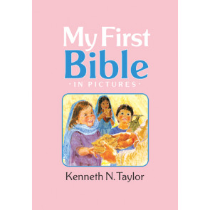 My First Bible in Pictures, Baby Pink - Hardcover