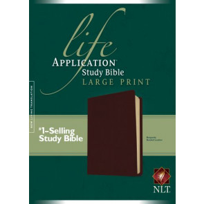 NLT Life Application Study Bible, Second Edition, Large Print (Red Letter, Bonded Leather, Burgundy/maroon) - Leather, bonded Burgundy/maroon With ribbon marker(s)