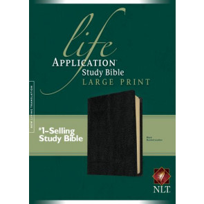 NLT Life Application Study Bible, Second Edition, Large Print (Red Letter, Bonded Leather, Black) - Bonded Leather Black With ribbon marker(s)