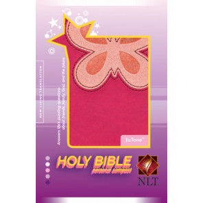 Holy Bible, Personal Compact NLT, TuTone Butterfly  - LeatherLike Multicolor/Pink/Magenta With ribbon marker(s)