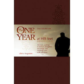 The One Year At His Feet Devotional - LeatherLike With ribbon marker(s)