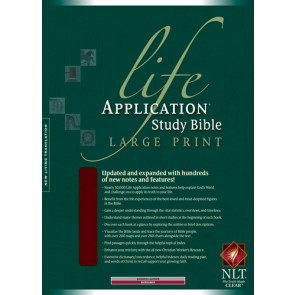 NLT Life Application Study Bible, Second Edition, Large Print (Red Letter, Bonded Leather, Burgundy/maroon, Indexed) - Leather, bonded Burgundy/maroon With thumb index and ribbon marker(s)