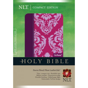 Compact Edition Bible NLT, Floral TuTone (LeatherLike, Fuchsia Floral/Plum) - LeatherLike Multicolor/Fuchsia Floral/Plum With ribbon marker(s)