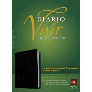 Biblia de estudio del diario vivir NTV (Letra Roja, Piel fabricada, Negro, Índice) - Bonded Leather Black With thumb index and ribbon marker(s)