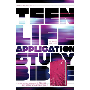 NLT Teen Life Application Study Bible (LeatherLike, Pink) - LeatherLike Pink With ribbon marker(s)