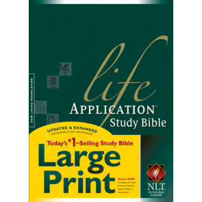 NLT Life Application Study Bible, Second Edition, Large Print  - Hardcover With thumb index and ribbon marker(s)
