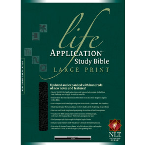 NLT Life Application Study Bible, Second Edition, Large Print (Red Letter, Bonded Leather, Black, Indexed) - Leather, bonded Black With thumb index and ribbon marker(s)