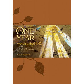 The One Year Worship the King Devotional - LeatherLike