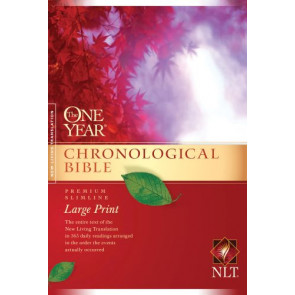 The One Year Chronological Bible NLT, Premium Slimline Large Print (Softcover) - Softcover