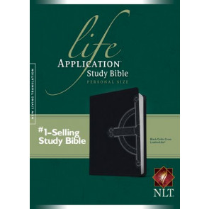 NLT Life Application Study Bible, Second Edition, Personal Size, Celtic Cross Edition (LeatherLike, Black) - LeatherLike Black With ribbon marker(s)
