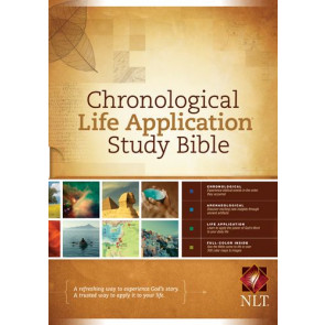 NLT Chronological Life Application Study Bible (Hardcover) - Hardcover With printed dust jacket