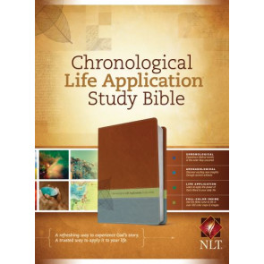 NLT Chronological Life Application Study Bible, TuTone (LeatherLike, Brown/Green/Dark Teal) - LeatherLike Brown/Multicolor/Green/Dark Teal With ribbon marker(s)