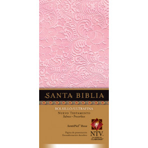 Nuevo Testamento con Salmos y Proverbios NTV, Edición bolsillo ultrafina (SentiPiel, Rosa) - LeatherLike Pink