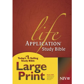 NIV Life Application Study Bible, Second Edition, Large Print  - Hardcover