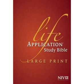 NIV Life Application Study Bible, Second Edition, Large Print (Red Letter, Hardcover, Indexed) - Hardcover With thumb index