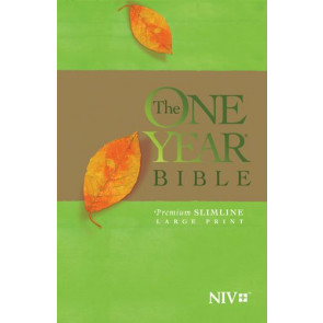 The One Year Bible NIV, Premium Slimline Large Print edition  - Softcover With ribbon marker(s)
