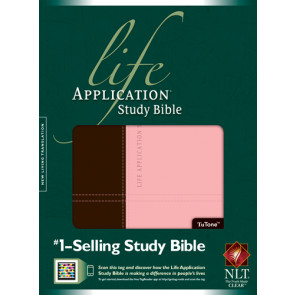 NLT Life Application Study Bible, Second Edition, TuTone (Red Letter, LeatherLike, Dark Brown/Pink, Indexed) - LeatherLike Dark Brown/Multicolor/Pink With thumb index and ribbon marker(s)