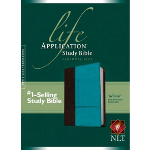 NLT Life Application Study Bible, Second Edition, Personal Size (LeatherLike, Dark Brown/Teal) - LeatherLike Dark Brown/Multicolor/Teal With ribbon marker(s)