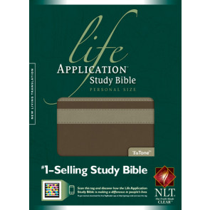 NLT Life Application Study Bible, Second Edition, Personal Size (LeatherLike, Taupe/Stone) - LeatherLike Stone/Multicolor/Taupe With ribbon marker(s)