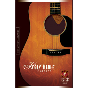 Compact Edition Bible NLT, TuTone  - LeatherLike Brown/Multicolor/Tan Guitar Pick With ribbon marker(s)