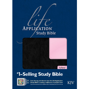 KJV Life Application Study Bible, Second Edition, TuTone (Red Letter, LeatherLike, Black/Patent Leather Pink, Indexed) - LeatherLike Black/Multicolor/Patent Leather Pink With thumb index and ribbon marker(s)
