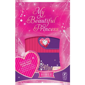 My Beautiful Princess Bible NLT, TuTone (LeatherLike, Princess Pink/Purple Royalty) - LeatherLike Multicolor/Princess Pink/Purple Royalty With ribbon marker(s)