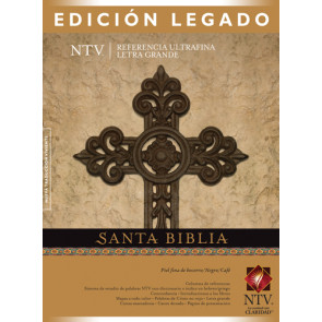 Santa Biblia NTV, Edición legado (Letra Roja, Piel fina de becerro, Negro/Café) - Genuine Leather Black/Brown/Multicolor With ribbon marker(s)