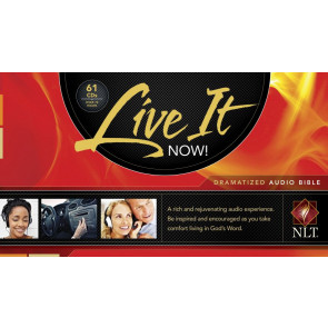 Live It Now! Dramatized Audio Bible (Audio CD, Black) - CD-Audio Black With zip fastener