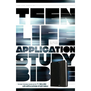 NLT Teen Life Application Study Bible (LeatherLike, Black) - LeatherLike Black With ribbon marker(s)