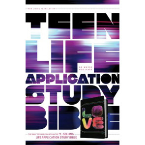Teen Life Application Study Bible NLT LOVE  - LeatherLike Black/Tie Dye With ribbon marker(s)