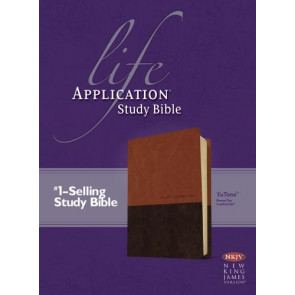 NKJV Life Application Study Bible, Second Edition, TuTone (Red Letter, LeatherLike, Brown/Tan) - LeatherLike Brown/Multicolor/Tan With ribbon marker(s)