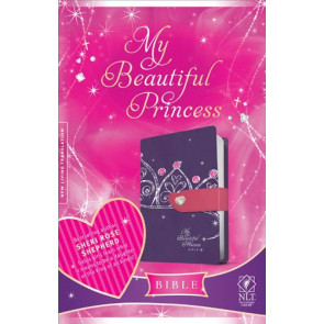 My Beautiful Princess Bible NLT, TuTone (LeatherLike, Purple Crown) - LeatherLike Purple Crown With ribbon marker(s)