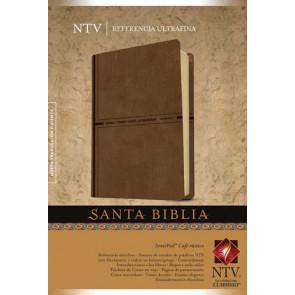 Santa Biblia NTV, Edición de referencia ultrafina (Letra Roja, SentiPiel, Café rústico) - LeatherLike Rustic Brown With ribbon marker(s)