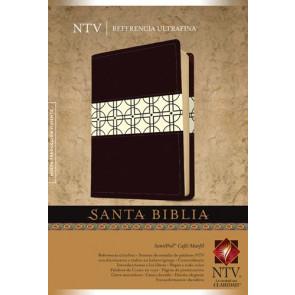 Santa Biblia NTV, Edición de referencia ultrafina, DuoTono (Letra Roja, SentiPiel, Café/Marfil) - LeatherLike Brown/Ivory/Multicolor With ribbon marker(s)