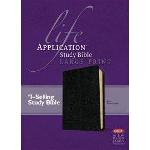 NKJV Life Application Study Bible, Second Edition, Large Print (Red Letter, Bonded Leather, Black) - Bonded Leather Black With ribbon marker(s)