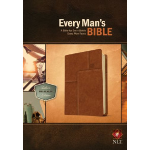 Every Man's Bible NLT, Deluxe Messenger Edition (LeatherLike, Brown) - LeatherLike Brown With ribbon marker(s)