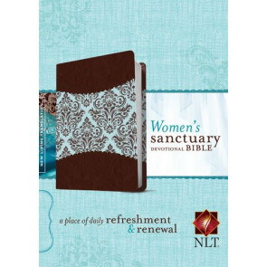 Women's Sanctuary Devotional Bible NLT, TuTone (LeatherLike, Espresso/Vintage Floral) - LeatherLike Espresso/Vintage Floral With ribbon marker(s)