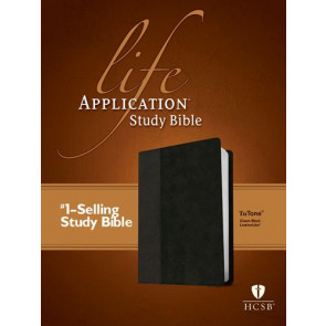 HCSB Life Application Study Bible, Second Edition, TuTone  - LeatherLike Classic Black With ribbon marker(s)