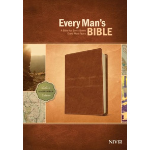 Every Man's Bible NIV, Deluxe Journeyman Edition (LeatherLike, Tan) - LeatherLike Tan With ribbon marker(s)
