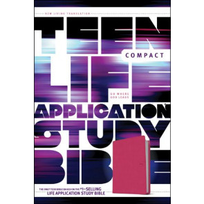 NLT Teen Life Application Study Bible, Compact Edition (LeatherLike, Pink) - LeatherLike Pink With ribbon marker(s)