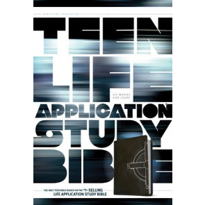 NLT Teen Life Application Study Bible, Celtic Cross  - LeatherLike Black With ribbon marker(s)