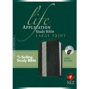 NLT Life Application Study Bible, Second Edition, Large Print, Floral TuTone (Red Letter, LeatherLike, Black/Vintage Ivory Floral, Indexed) - LeatherLike Black/Vintage Ivory Floral/Multicolor With thumb index