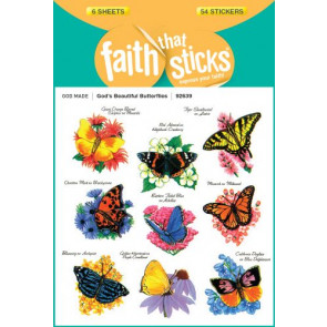 God's Beautiful Butterflies - Stickers