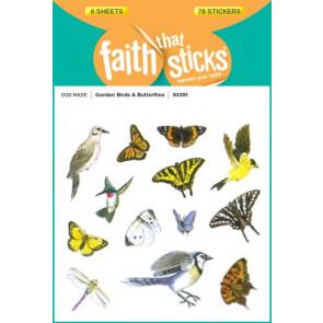 Garden Birds and Butterflies - Stickers
