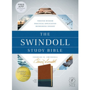The Swindoll Study Bible NLT, TuTone  - Imitation Leather Blue/Brown/Multicolor/Teal With ribbon marker(s)