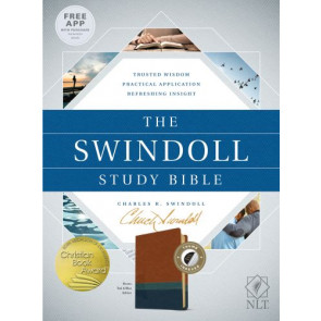 The Swindoll Study Bible NLT, TuTone  - Imitation Leather Blue/Brown/Multicolor/Teal With thumb index and ribbon marker(s)