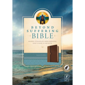 Beyond Suffering Bible NLT, TuTone (LeatherLike, Brown/Tan, Indexed) - LeatherLike Brown/Multicolor/Tan With thumb index and ribbon marker(s)