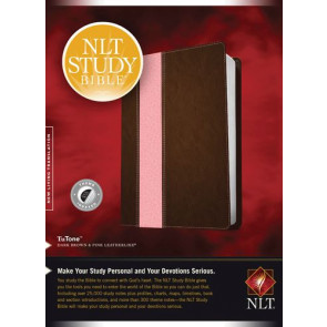 NLT Study Bible, TuTone (Red Letter, LeatherLike, Dark Brown/Pink, Indexed) - LeatherLike Dark Brown/Multicolor/Pink With thumb index and ribbon marker(s)