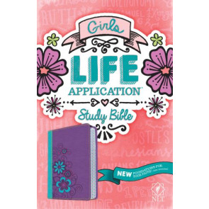 NLT Girls Life Application Study Bible, TuTone (LeatherLike, Purple/Teal) - LeatherLike Multicolor/Purple/Teal With ribbon marker(s)